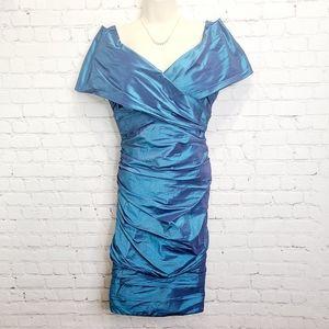 Rickie Freeman for Teri Jon Silk Cocktail Dress